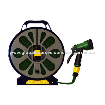 ... Best China 50u0027 Light Weight Roll Flat Garden Hose Reel Set, Best ...
