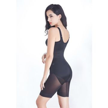 a229845c853 ... China Women high waist control long pant soft cups full body shaper  women shapewear with straps ...