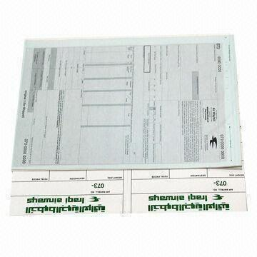 Airway Bill With Cargo Sticker Shipment Bill Consignment Note