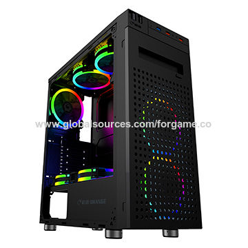 China Cooling Gaming Pc Case With Rgb Led Fan Atx M Atx From