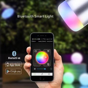 China 6W/LED App-enabled RGB Smart Bulb with 120-degree Beam Angle