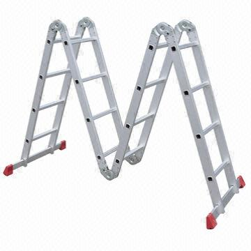 Aluminum Multifunction Step Ladder with 1.2mm Thickness and 16 Steps ...