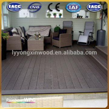 China Waterproof Outdoor Floor Covering Wpc Decking For Balcony