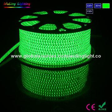 China 220 110 127 Volt Voltage Green Color Smd Led Strips Or Rope Light 3014 Model 120pcs