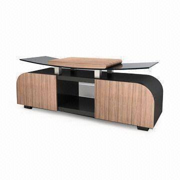 Tv Stand With 2 Drawers Made Of Glass Or Wood Suitable For 55
