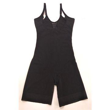c503fdd7a84 ... China Women high waist control long pant soft cups full body shaper  women shapewear with straps