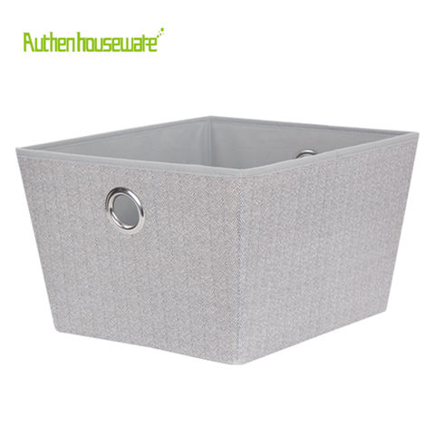 online buy wholesale large decorative baskets from china.htm china decorative storage bin l  with metal handle 35x42x25cm  high  china decorative storage bin l  with