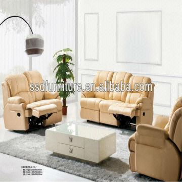 Best Selling Stylish Genuine Leather Recliner Sofa Set ...