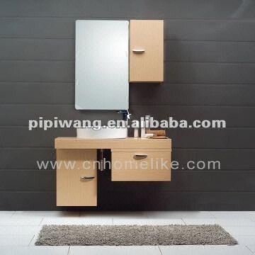 China Modern 100 Cm Bamboo Wall Mounted Bathroom Vanity Cabinet