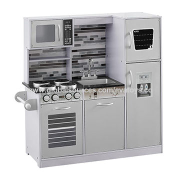 China 2019 New arrival big wooden pretend play kitchen for ...