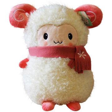 china cute kawaii scarf little sheep pillow plush toys for kid christmas - Christmas Plush Toys