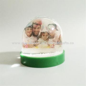 Photo snow globe, new design custom photo snow globe picture frame ...