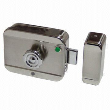 china intelligent electronic lock with push button compatible with access control door phone system