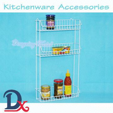 White Color Big Size 3 Tier Kitchen Wire Wall Mounted Wire Rack Global Sources