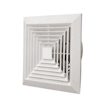 China 8 Inch Square Ceiling Ventilation Exhaust Fan Air Discharging 1 Way