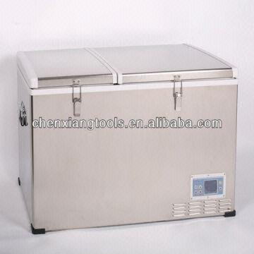 80l Portable Fridge Freezer Dual Compartment Stainless Steel