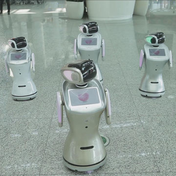 China Voice controlled intelligent interactive reception robot for supermarket and hall