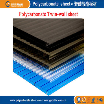 Twin Wall Polycarbonate Sheets With 4 10mm Thickness