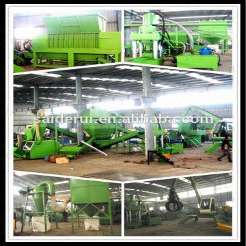 3000kg/Hr capacity radiator recycling machine,aluminium
