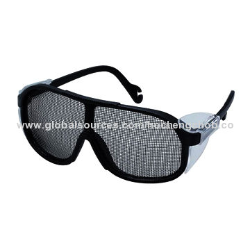 9dee37c68f ANSI and CE wire mesh safety spectacles with side shields