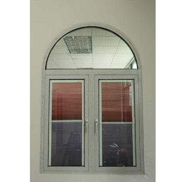 Casement window, thermal break aluminum profile frame with security