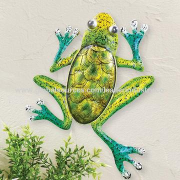 China Bsci Factory Decorative Metal, Metal Frog Garden Decor