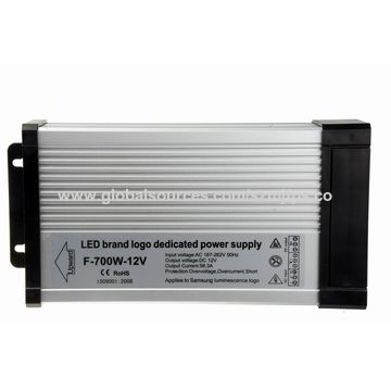 China Waterproof LED Power Supply, 12V/58.3A/700W, Outdoor Installation, Waterproof Rating IP43