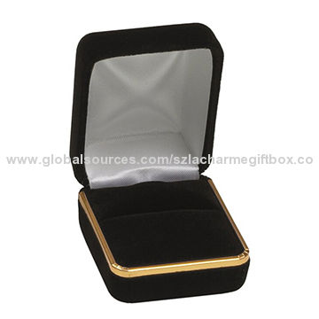 Velvet Jewelry Gift Box for Long Necklace and Pendant Display