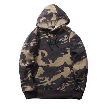 79988676d ... China Men's Ropa High Quality Custom Camo Pullover Fleece Hoodies ...