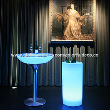 China led cocktail table from huizhou wholesaler huizhou city china c107 rbg color changeable battery rechargeable outdoor light up led cocktail table aloadofball Images