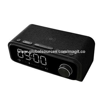 Qi Wireless Charging LED Digital Alarm Clock Audio bluetooth Speaker Radios USB