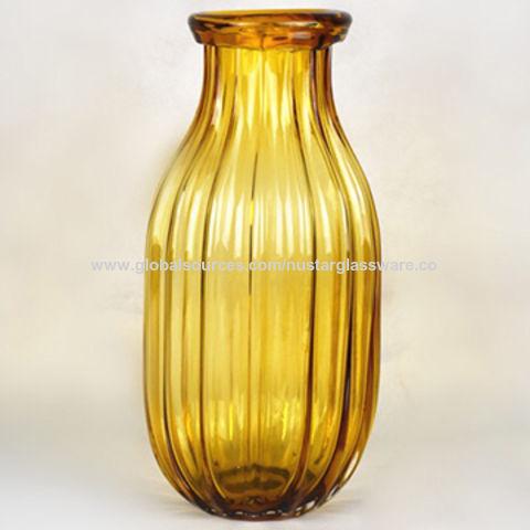 China Amber Colored Glass Vase From Qingdao Wholesaler Qingdao