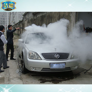 China 12-bar LPG mobile steam car high pressure washer with CE approval