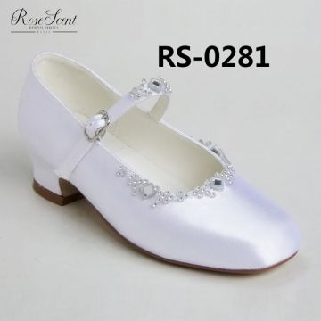 Children Wedding Shoes Good Quality Ballet Style White