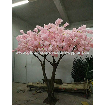 China 3 Meter Good Quality Pink Fake Artificial Cherry Blossom
