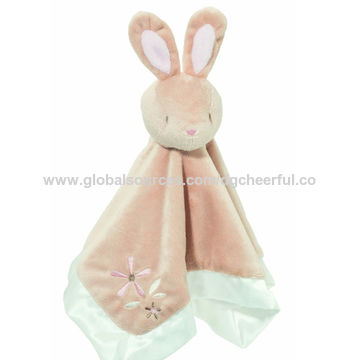 Pale Blue Rabbit Toy Fleece Bunny Ornamental Toy New Baby Shower Gift Kid/'s Room Decoration Adoption Present Introduction Gift Cuddly Bunny