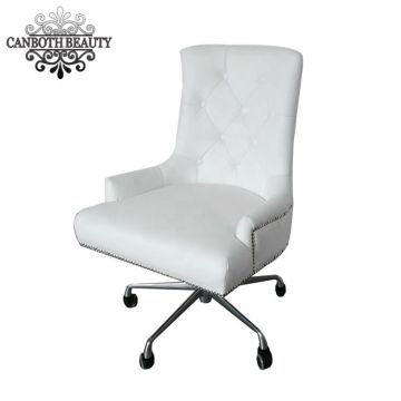 White nail customer\'s chair & nail tech chair for salon nail ...