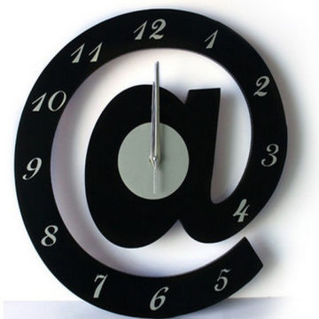 Glass Wall Clock, Comes in Fancy and Nice Design, Modern ...