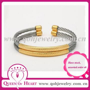 colorful looker item line new for steel bracelet wire stretch arrival spring cable titanium bangles stainless