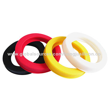 China Round rubber gasket, customized design and size, pantone color ...