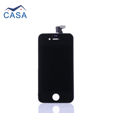 China Black color+high quality mobile phone LCD screen assembly for iPhone 4S