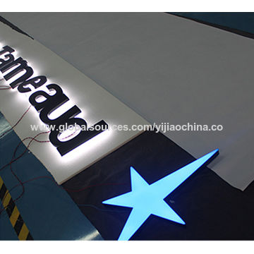 Waterproof shop sign reverse lit stainless steel LED channel