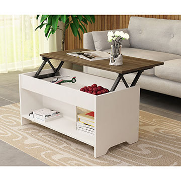 China Modern Adjustable Coffee Table Lift Wooden Tea Table Design
