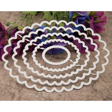 Diy Scrapbook Diy Album Cutting Template Die Cut Oval Lace Gear Dm