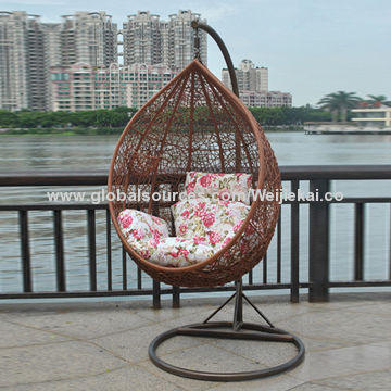 Single Outdoor Rattan Swing Chair Suitable For Single Person