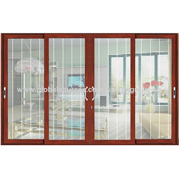 Aluminum frame sliding glass window with wooden grain | Global Sources