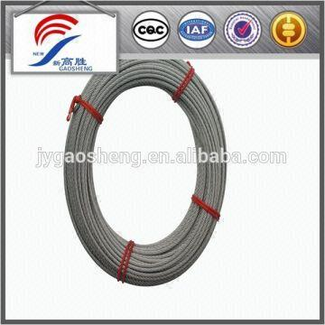 7x7 electric galvanized steel cable 1,small size wire rope 2, prompt ...