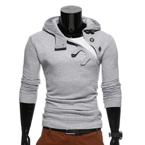 4566d1aa4 China Wholesale Custom High Neck Men Pullover 100% Cotton Plain Fleece  Hoodie ...
