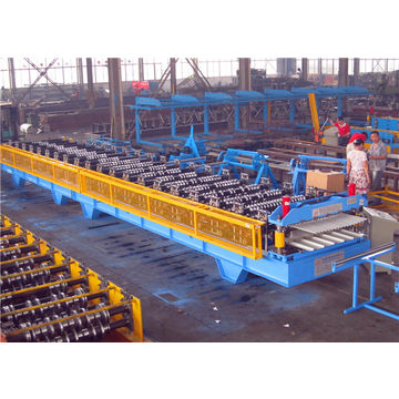 China China Roll Cutting Machinery, Metal Roofing Double Layer Tile Forming Machine