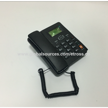 China Dual SIM GSM fixed wireless desktop phone from